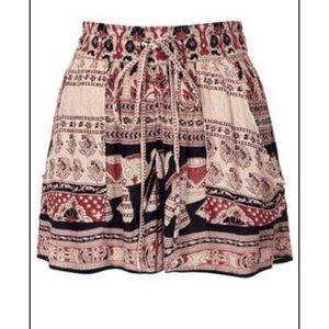 Band of Gypsies Gauze Boho Shorts High Rise Pocket